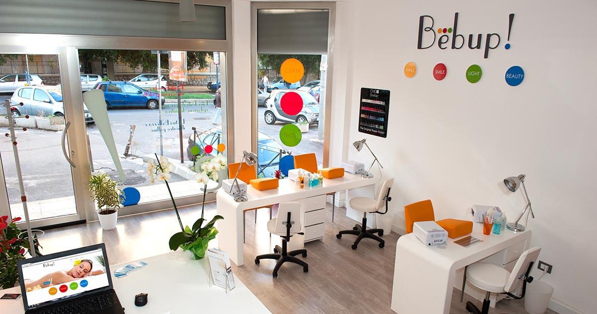 fotografia l'interno del centro estetica Bebup! a Palermo