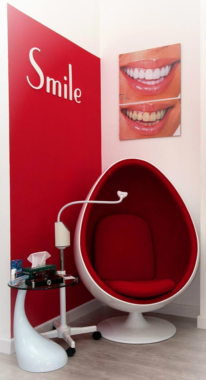 il corner dedicato allo sbiancamento dentale